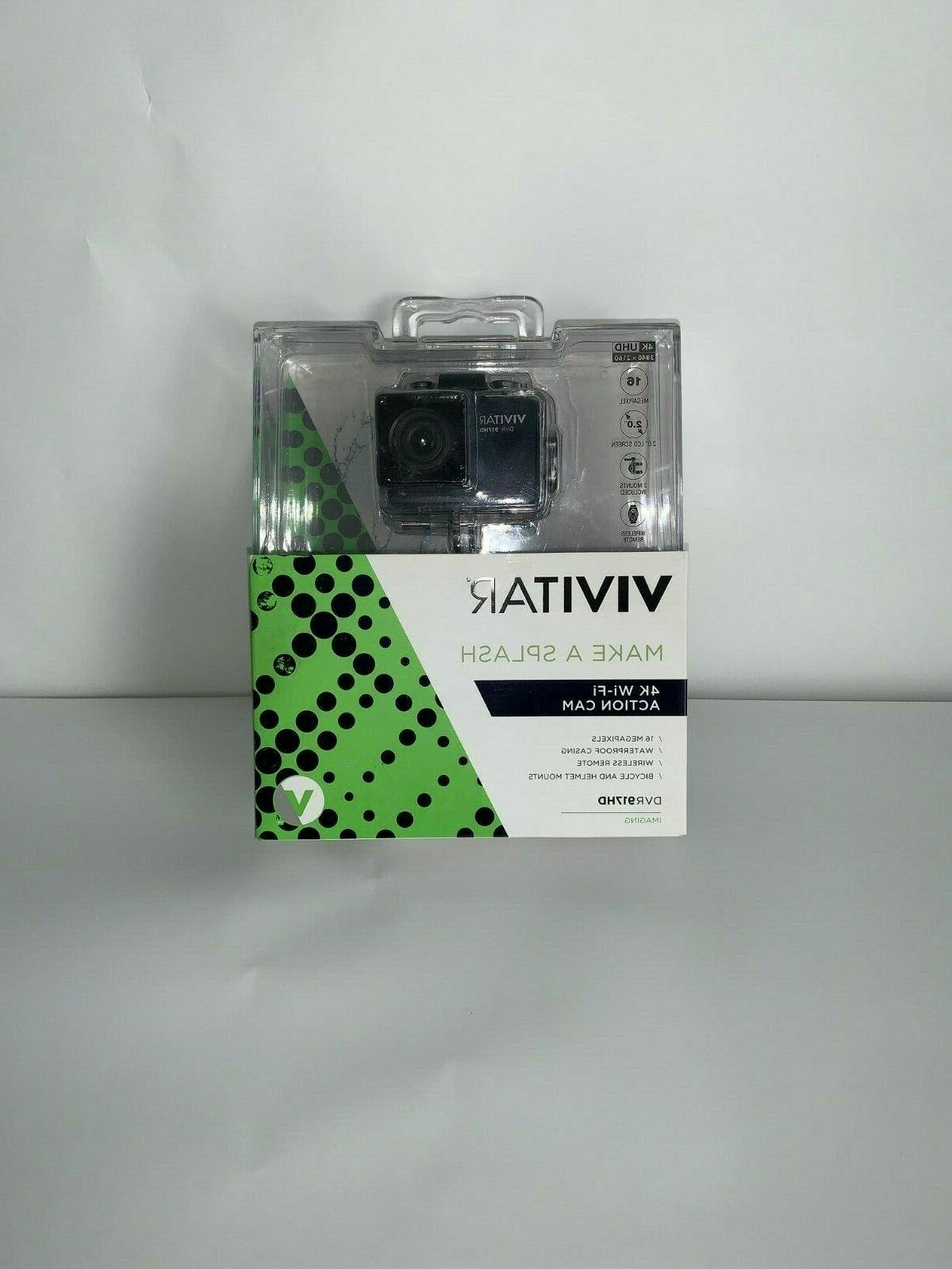 Vivitar 4K Camera with Remote - Black