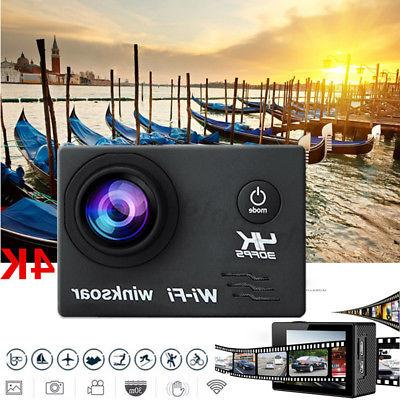 WiFi Ultra HD 1080p 16MP 2.0'' Underwater Sports Action Came