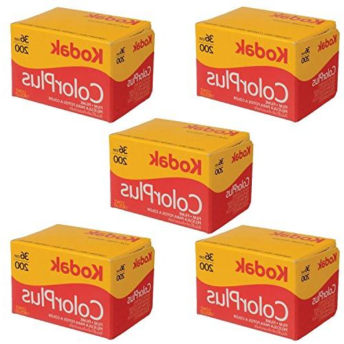 5 Rolls Of Kodak colorplus 200 asa 36 exposure Pack of 5