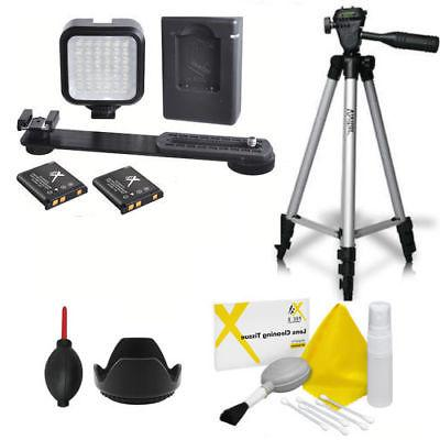"50"" VIVITAR TRIPOD + 36 HD LIGHT LED + CLEANING KIT FOR CANO"