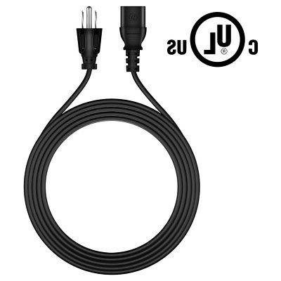 6ft ul listed ac power cord cable