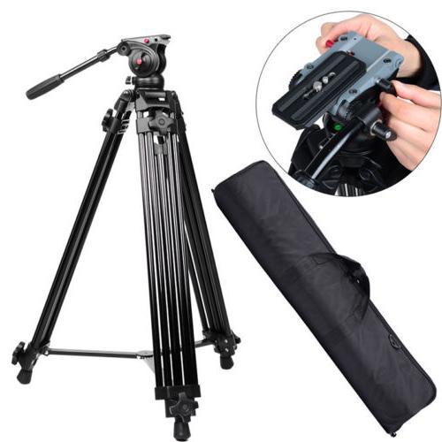 72''Professional Heavy Duty DV Video Camera Tripod w/Fluid P