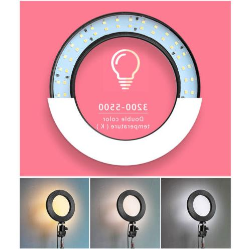 "8"" Dimmable Ring Light Stand Camcorder For Selfie"