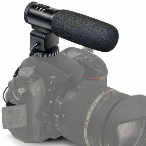 Camera Mic Professional Stereo Recording