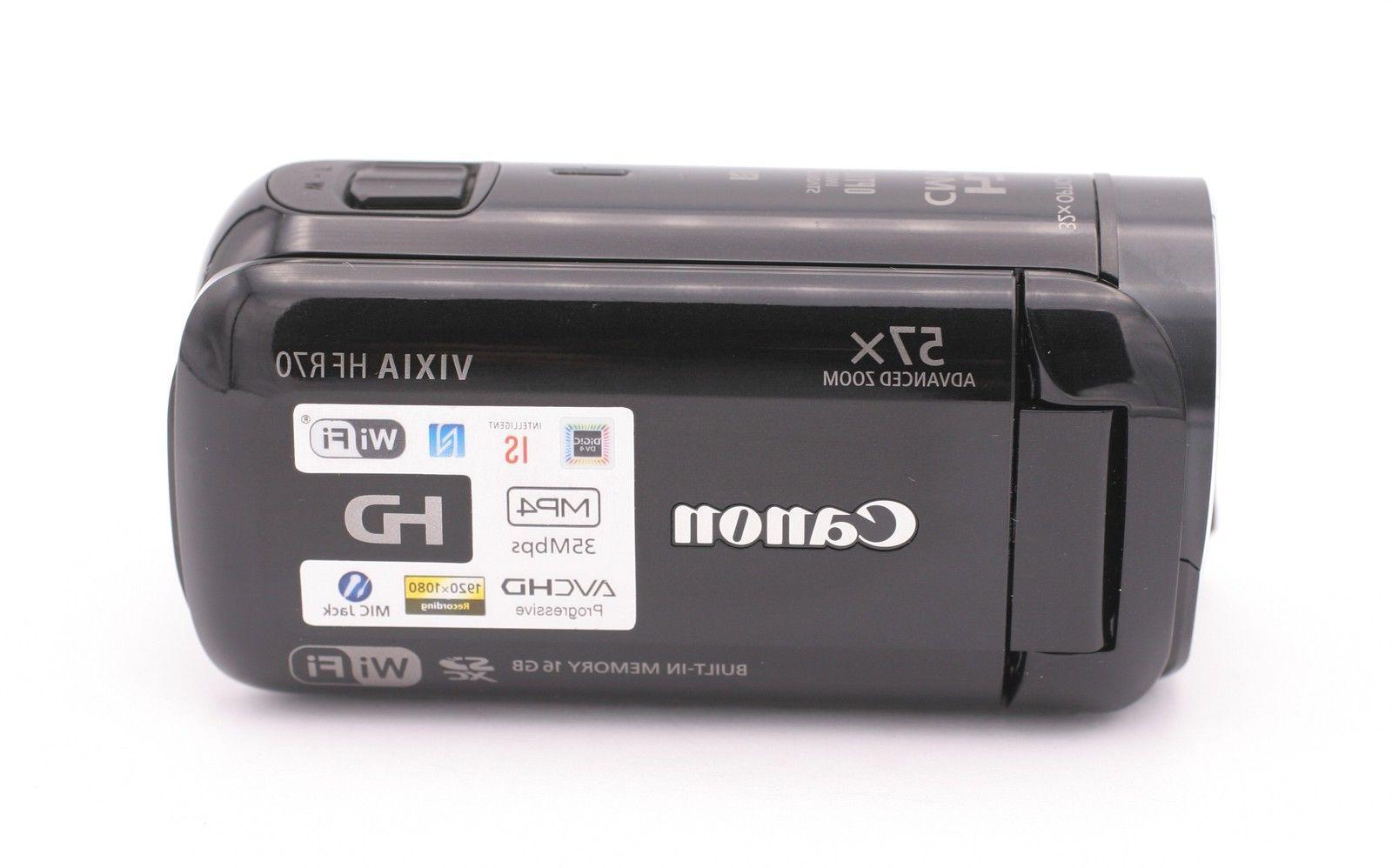 Canon VIXIA HF R70 16GB Full HD Camcorder - Black