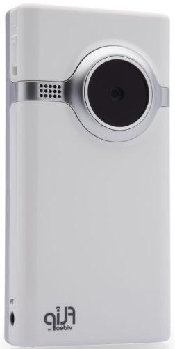 Flip Mino Video Camera - White, 2 GB, 1 Hour