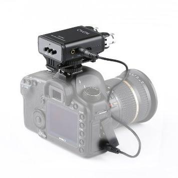 Movo VXR280 Camera Mount Condenser Microphone with Adjustable Mic Capsules