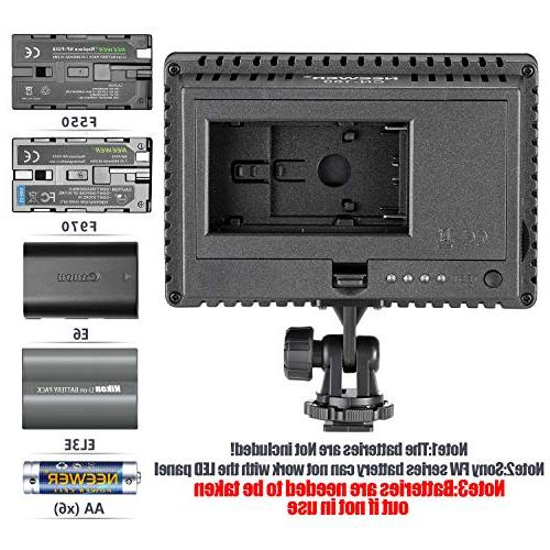 NEEWER 160 Dimmable Ultra High Panel Camera Camcorder Video LED Light for Pentax, Panasonic,SONY, Samsung Olympus Digital SLR
