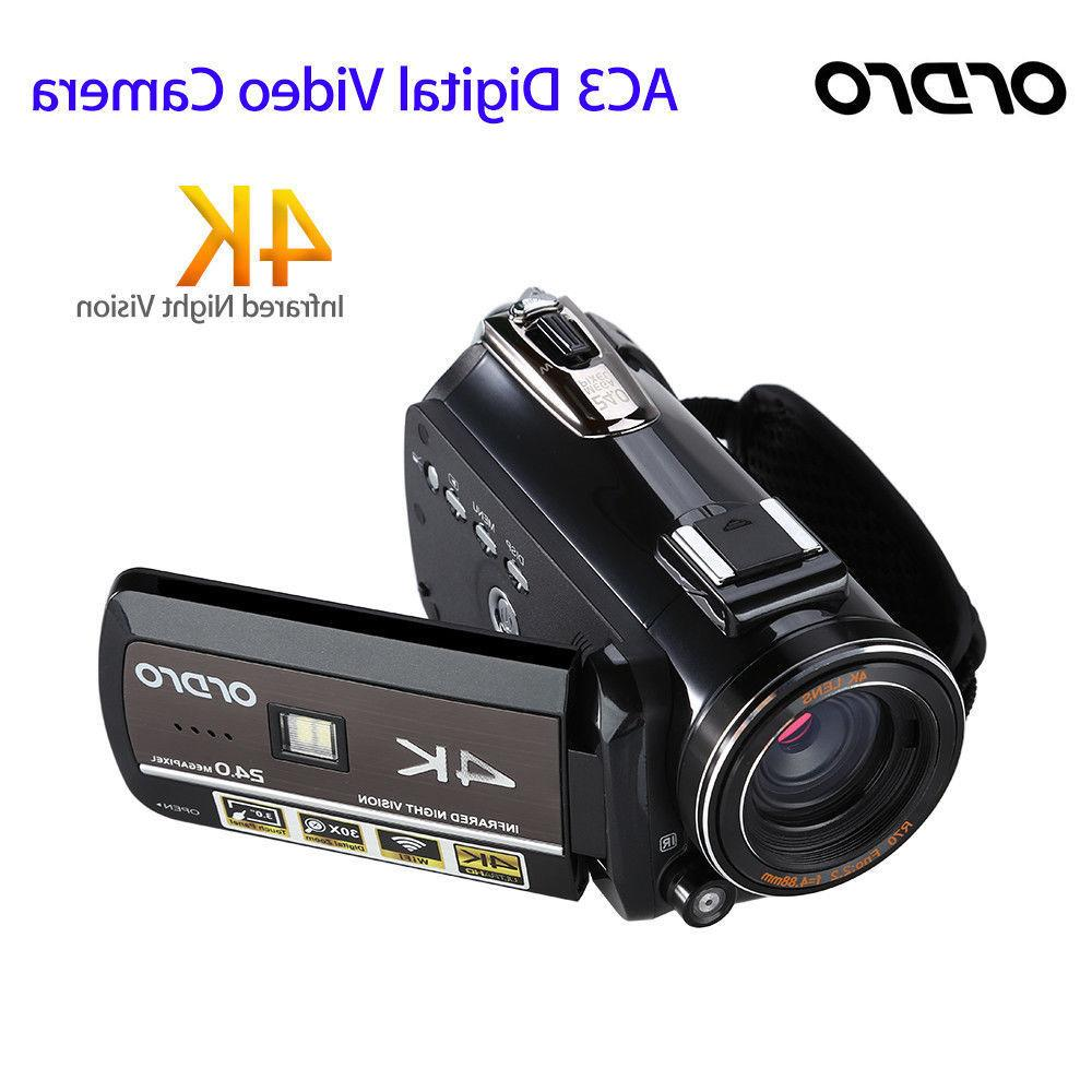 ORDRO AC3 Digital Camera WiFi Professional Infrared Video Recorder