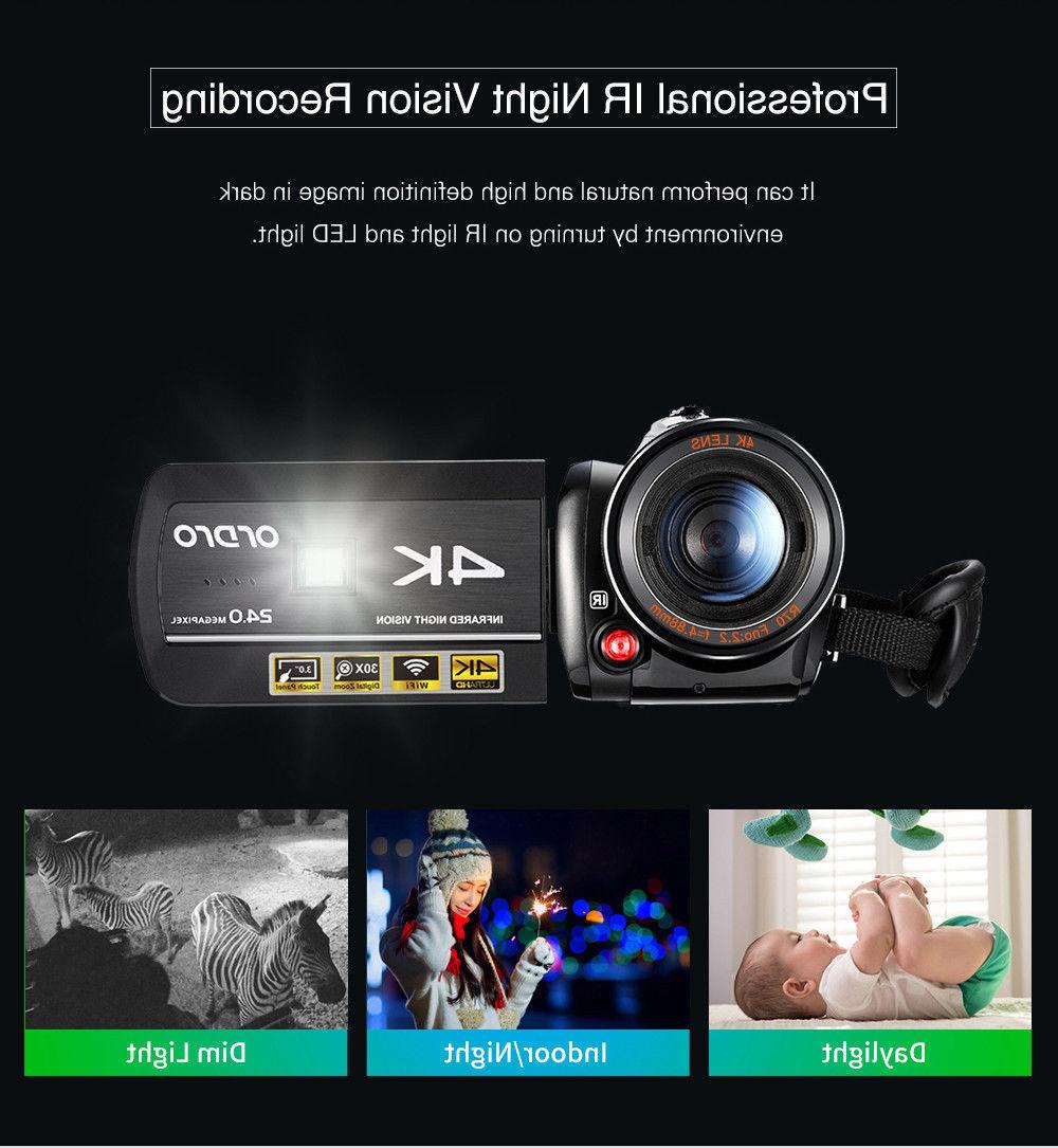 ORDRO AC3 Camera Professional Video