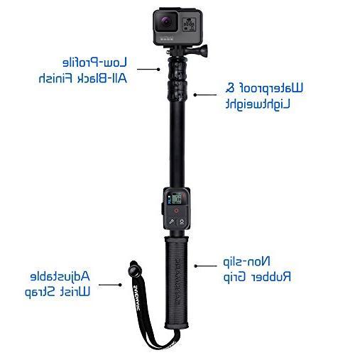 SANDMARC Edition: Waterproof Pole for 7, Hero 5, 3+, 3, 2, & HD - Remote Clip
