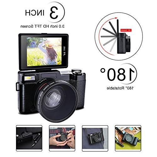 SEREE Camcorder 24.0 Megapixels 4x Zoom Inch LCD Screen Flashlight