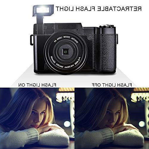 SEREE HD Camcorder HD 1080p 24.0 Megapixels 4x Digital Zoom Screen
