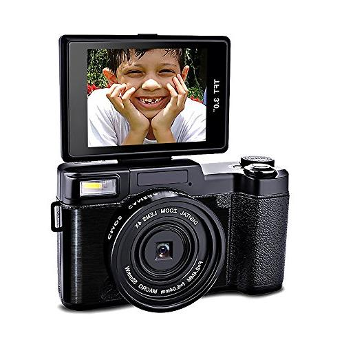 SEREE HD Digital Camera Camcorder Full HD 1080p 24.0 Megapix