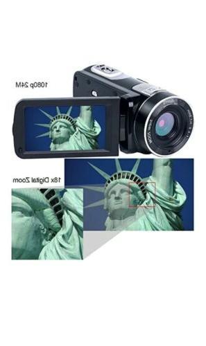SEREE Camcorder HD 24.0MP Zoom 2....