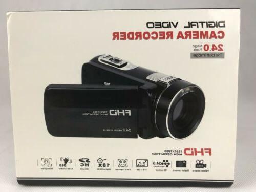 SEREE Video Camcorder Full HD 1080p Digital Camera 24.0MP 18