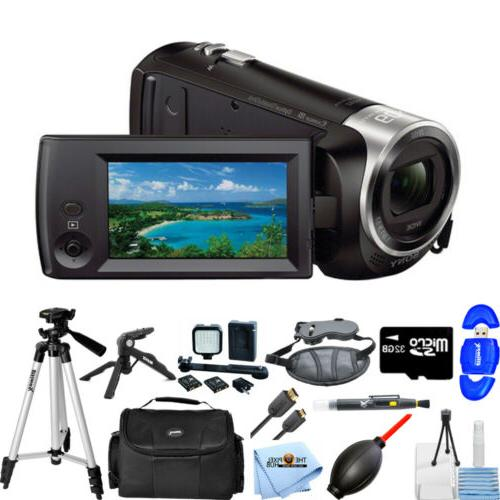 Sony HDR-CX405 HD Handycam Camcorder PRO BUNDLE BRAND NEW
