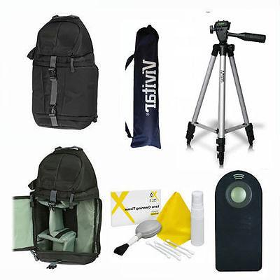 "VIVITAR PHOTO 50"" TRIPOD + BACKPACK  REMOTE FOR SONY ALPHA A"