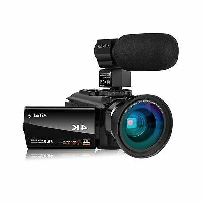 Video Camera 4K Camcorder AiTechny Ultra HD Digital WiFi Cam