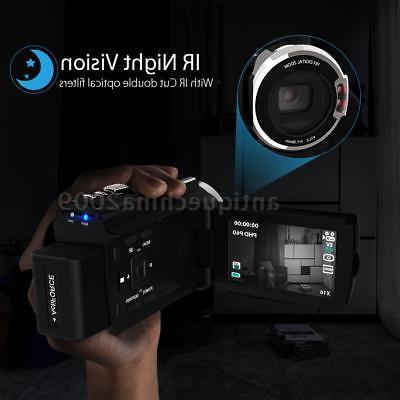 WIFI 4K CAMCORDER DV DVR+ MICROPHONE