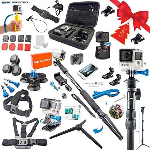 Nomadic Gear Accessory kit with universal support for GoPro,
