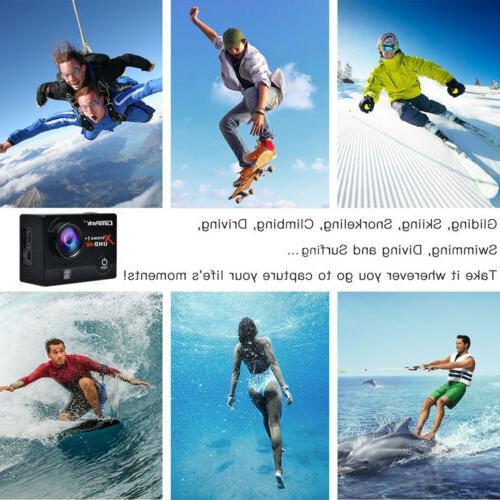 Campark 16MP Sports Camera Underwater 30M DVR US