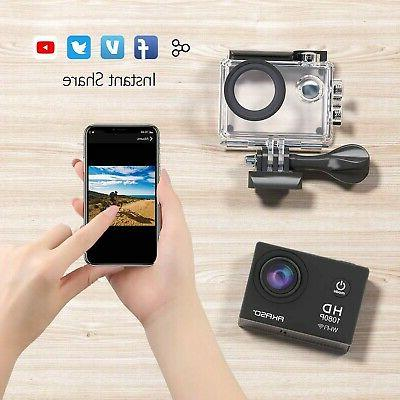 AKASO Action HD WiFi 12MP Sports 170 Wi