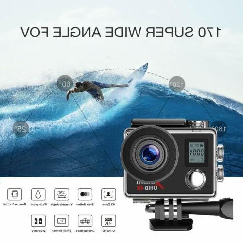Campark WiFi Ultra Sports Cam Waterproof 30M 170°
