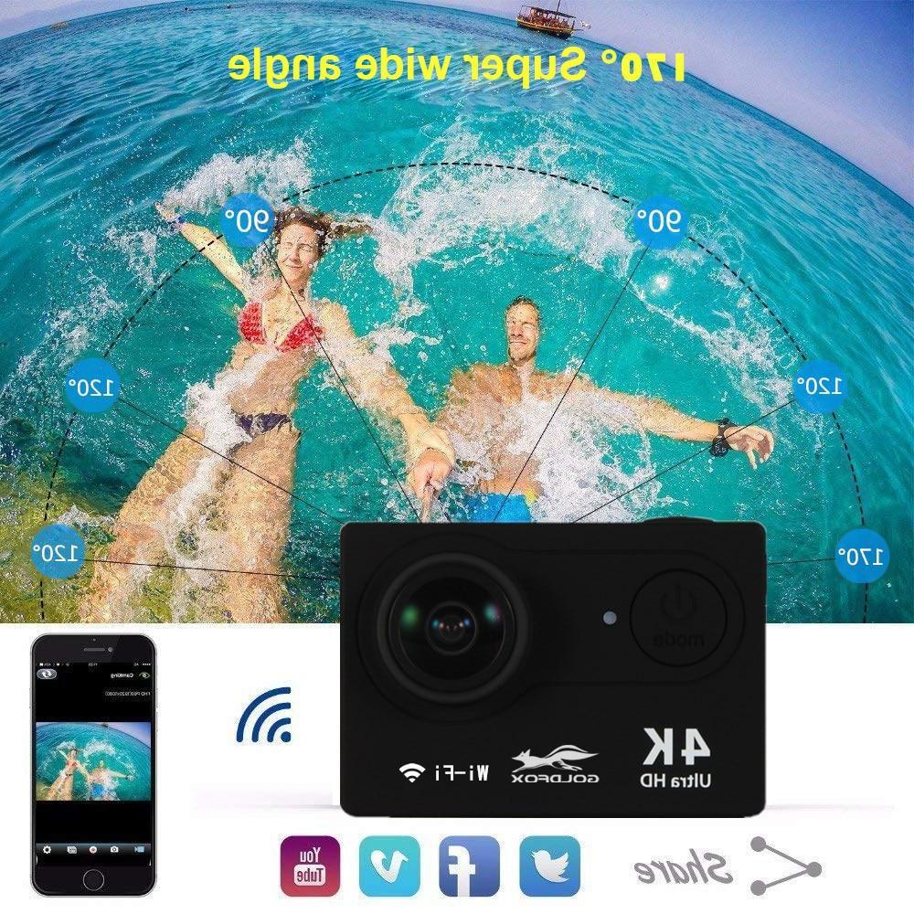<font><b>HD</b></font> WiFi Control Sports Camcorder Waterproof Helmet <font><b>Camera</b></font>