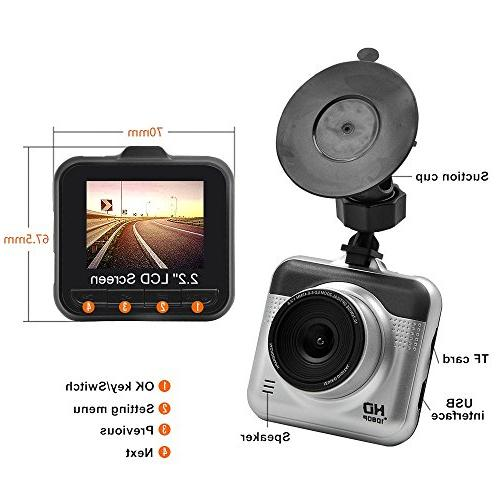 Yikoo Advanced Portable Camcorder, Degrees Angle,1080P High-Definition LCD Screen, HD Recording,