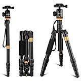 Andoer DSLR Camera Tripod,52inch/132cm Aluminum Tripod Monop