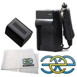 Battery & Charger Kit For Sony Handycam Camcorders Includes