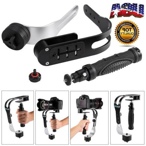 black handheld stabilizer steadycam dslr