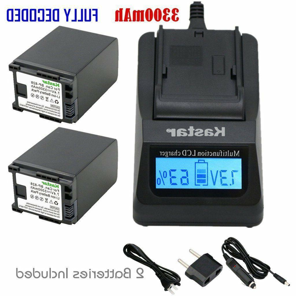 BP-828 Battery & Fast Charger for Canon VIXIA HF G10, HF G20