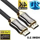 Braided Ultra HD HDMI Cable V2.0 High Speed Ethernet HDTV 21