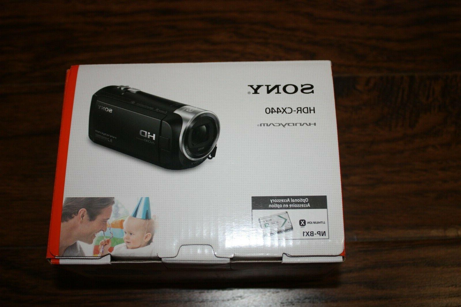 Brand New NIB Sony Handycam HDR-CX440 Camcorder 8GB 9.2 HD 1080