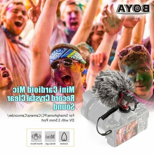 BOYA Cardioid Microphone Camera Camcorder