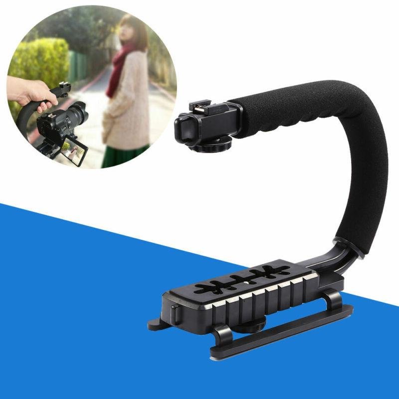 Video Camera Stabilizer Shoe Mount Handle Grip Rig for Iphon