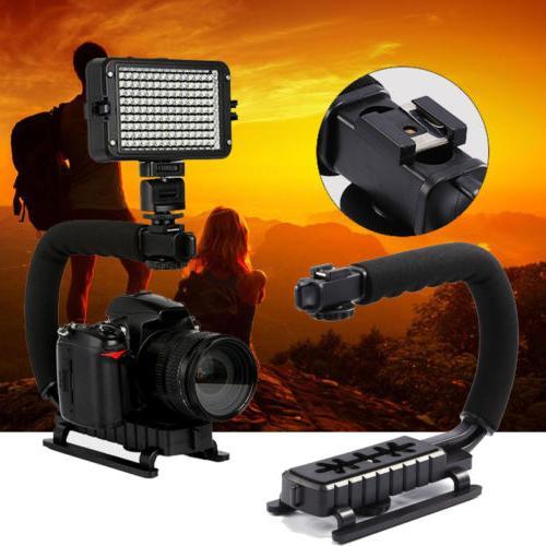 C/U Shape Bracket Handheld Grip Tripod Stabilizer DSLR Camer
