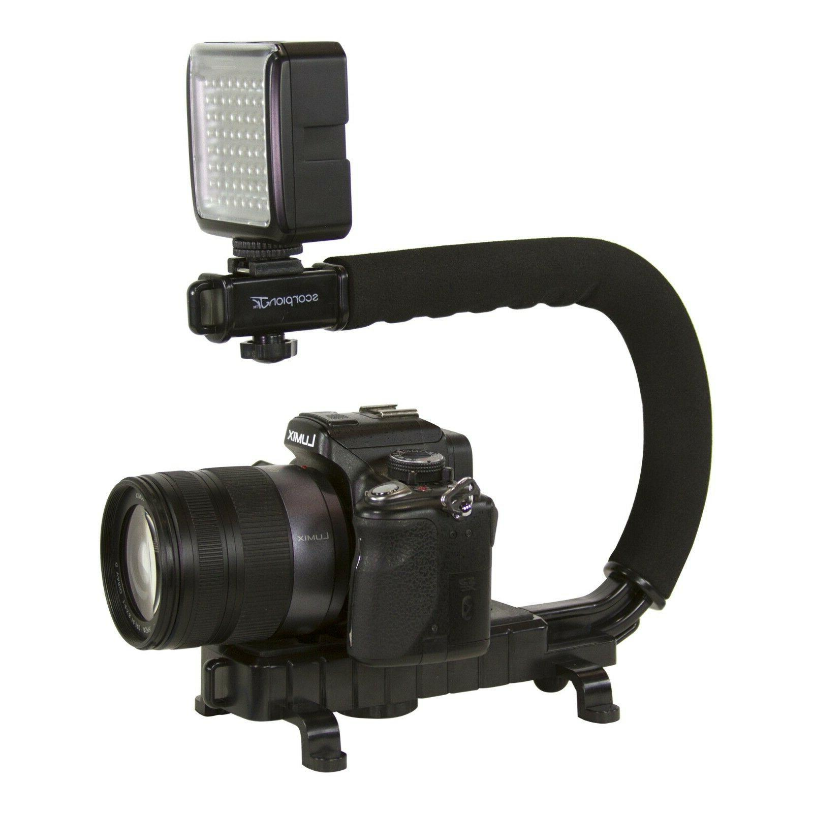 C/U Bracket Grip Stabilizer Camera Camcorder Canon