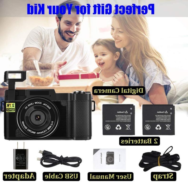 """Cámara Full HD 3"""" Pantalla Plegable LCD Youtube"""