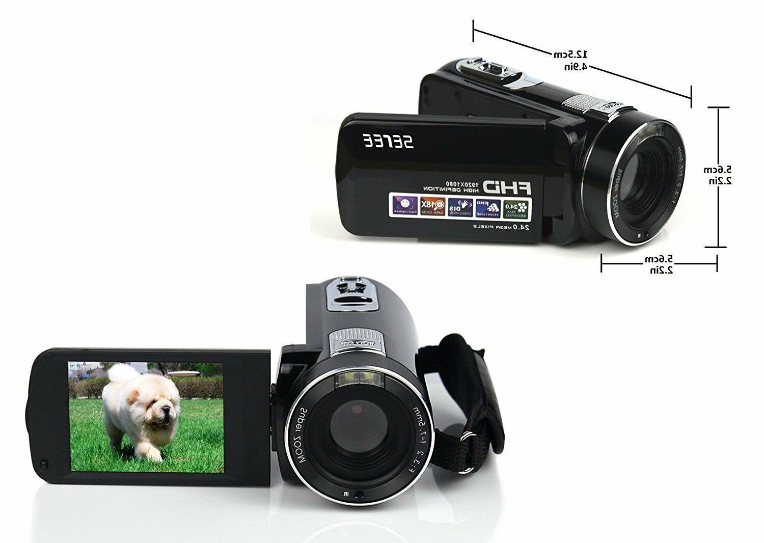 Camcorder Video Full 1080P 24.0 MP Digital Zo