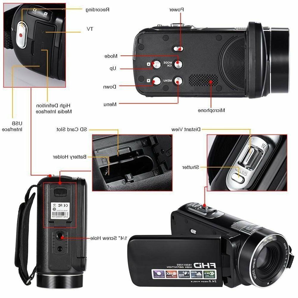 Camcorder Full HD 1080P MP Digital