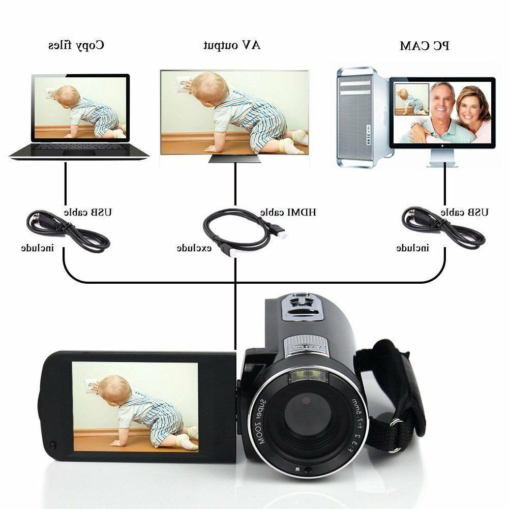 Camcorder Full HD MP Digital Camera 18× Digital