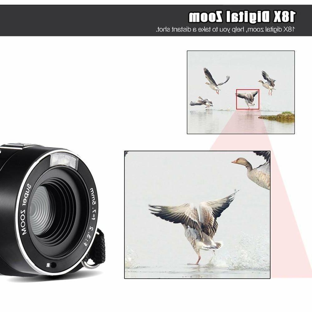 Camcorder Video Camera SEREE Full 1080P MP Camera 18× Digital