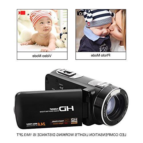 SEREE FHD 24.0 Digital Camera HDMI Included 18× Digital Handheld Video