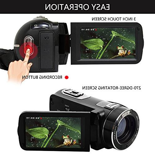SEREE Camcorder 24.0 MP Digital HDMI Included Digital Zoom Video