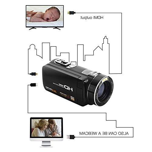 SEREE Camcorder FHD 1080P 24.0 MP HDMI Digital Zoom Portable Video