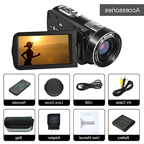 SEREE HD 1080p Camcorder LCD Rotation with