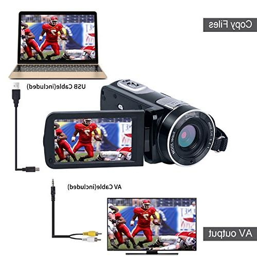 "SEREE camera HD Camcorder 3.0"" LCD Rotation with Remote"
